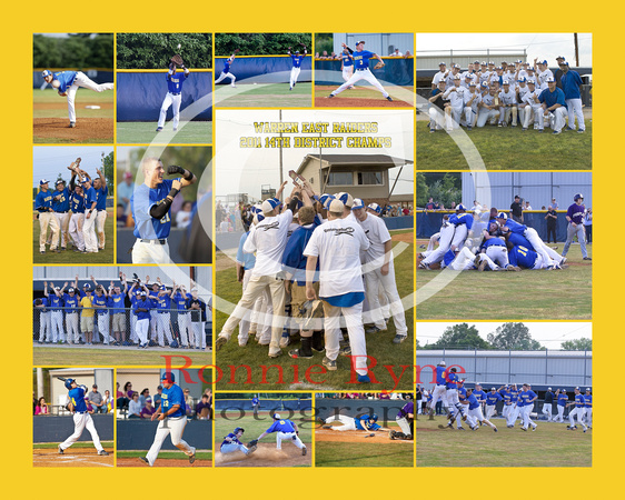 Warren East Raiders 2011 14th District Champs 8x10 246-205-39